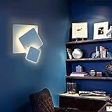 Asvert Apliques Pared Interior Ángulo ajustable Lámpara de pared 15W Moderna Blanco...