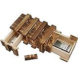 Caja con compartimentos secretos Caja madera secreta Caja mágica Caja madera souvenirs...