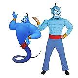LuBHnna Disfraz de Genio de Aladdin, La lámpara mágica Jinn Djinni Cosplay con máscara...