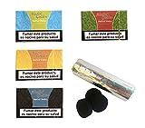 Outletdelocio. Pack 4 Hierba para cachimba Shisha de sabores Variados (Piña, Regaliz, Ron...