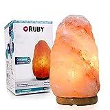 RUBY - Lampara de Sal del Himalaya 2-3 kg, 100% Natural, Salt Lamp Hecha a Mano Original...