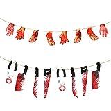KATOOM 2 banderines sangrientos de Halloween, Guirnalda de extremidades Colgantes de Manos...