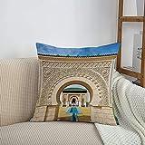 Fundas de cojines sencillas y clásicas de 45 x 45 cm,Arquitectura árabe, marroquí...