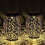 Gadgy Set de 2 lamparas solares ovales | para decoracion jardin exterior | Lampara...