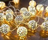 CozyHome - Guirnalda luces LEDs decorativa de estilo oriental   7 m + 20 bolas pequeñas...