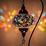 (5 variaciones) lámpara turca, lámpara de mesa de mosaico hecha a mano, pantalla de...