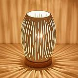 OuXean E27 Lámpara de mesa blanca de 60 W para interior, hogar, iluminación de...