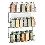 mDesign Especiero de cocina autoadhesivo AFFIXX – Estanterías metálicas para especias...