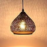 Louvra Lámpara Vintage de Techo Casquillo E27 Colgante Luz Industrial Lámpara Retro,...
