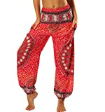 Pantalones Harem Mujer Aladino Hippies Baggy Boho Pantalon Yoga Jogger Flojo Pantalón...