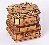 Cluebox, Un juego de escape en una caja, el cofre de Davy Jones, rompecabezas 3D de madera...
