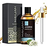 MAYJAM Aceites Esenciales de Jazmín 100 ml, 100% Aceites Esenciales Naturales Puros,...