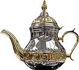 SL Tetera árabe realizada en Acero Inoxidable- Tetera con Filtro Integrado de 1.6 litro...