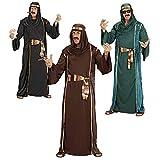 WIDMANN 44041 - jeque traje adulto árabe, túnica, capa sin mangas, cinturón y turbante,...