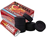[Pack] Rollos de carbón para cachimba, Shisha, Hookah, narguile e incensario (50)