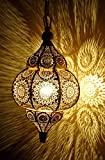 Moderno turco vintage aspecto antiguo marroquí oro luces de techo hogar linterna colgante...