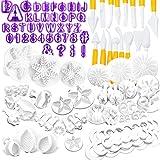 Nuyoah Cortador Fondant Expulsor Moldes para Fondant 87pcs Cake Molder Decorating Kit con...