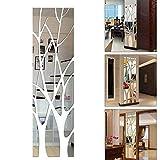 TEYU - Pegatina decorativa 3D para pared, efecto de espejo, acrílico, de ramas de árbol,...