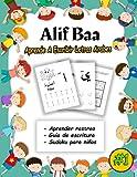 Alif Baa Aprende A Escribir Letras Arabes: Libro de trabajo de rastreo de letras del...