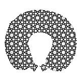 ABAKUHAUS Geométrico Cojín de Viaje para Soporte de Cuello, Ornamental árabe Estrellas,...