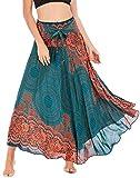 Aivtalk Falda para Mujer Vestido de Ocio de Vacaciones en la Playa Falda de 2 Usos Falda...