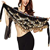 Pañuelo de Danza del Vientre Mujer Baile Oriental Bufanda Falda Cinturón de Cadera con...