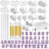 TIMESETL 108Pcs Herramientas de decoración de Pasteles Conjunto de moldes de Caracteres...