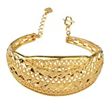 Brazaletes árabes para las mujeres oro color africano pulsera joyería Dubai regalos de...