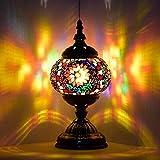 Lámpara marroquí turca hecha a mano con mosaico de cristal para escritorio, mesita de...