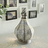 JHY DESIGN Lámpara de mesa 30cm de metal alimentada por batería Estilo Marroquí-árabe...
