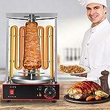 S SMAUTOP asador de Pollos, 3000w Máquina de Kebab eléctrica Parrilla de la Parrilla...