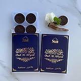 Maamoul Oud Al Abyad Oud Bakhoor (2 paquetes) - Quemar su bakhoor para difusión wafty de...