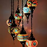 Lámparas de mosaico turco marroquí para colgar en el techo, estilo oriental,...