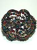Desconocido Brazalete Mujer en Metal con Piedras Colores Tipo Flor