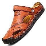 LIEBE721 Sandalias de Punta Abierta Esenciales para el Verano para Hombres Durable Comfort...