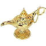 Siumir Lámpara Mágica de Aladdin Metal Genie Lámpara Deseando Lámpara para Cosplay,...