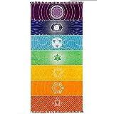 Amasawa 75cm*150cm Indiano Yoga Tapestry Chakra Yoga de Playa Tapices Colgantes Utilizado...