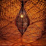 Lámpara Oriental Marroquí - lamparilla colgante - farola de techo Kihana negro 40cm -...