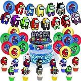 Superhéroes y Among Us decoraciones para fiestas - YUESEN 30pcs 1er Cumpleaños Bebe...