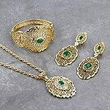 ghn Collares de cadena Sunspicems Chic Marruecos Conjunto de joyas de boda de color dorado...