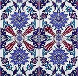 Cerames Makbule - Coloridos azulejos turcos, 1 paquete - 0.48m2 (12 piezas), azulejos de...