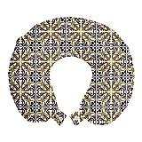 ABAKUHAUS árabe Cojín de Viaje para Soporte de Cuello, Estilo Azulejos de Mosaico de la...