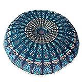 VJGOAL Large Mandala Floor Pillows Round Bohemia impresión Meditación Cojín Funda...