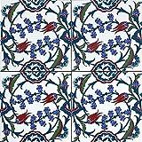 Cerames Pinar - Coloridos azulejos turcos, 1 paquete - 0.48m2 (12 piezas), azulejos de...