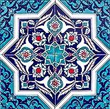 Cerames Mehtap - Coloridos azulejos turcos, 1 paquete - 0.48m2 (12 piezas), baldosas...
