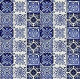 Cerames Tono - Original 30 azulejos coloridos de México, pintados a mano, para mosaico,...