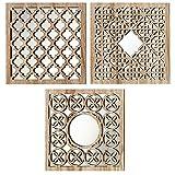 Home Collection - Muebles, decoración - conjunto de 3 espejos de pared - Patrón: árabe...