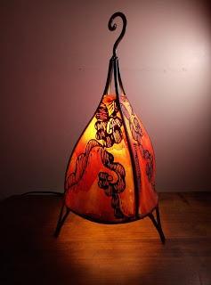 lámpara de piel